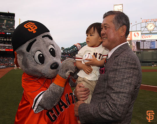 San Francisco Giants, S.F. Giants, photo, 2014, Japanese Heritage Night, Masanori Murakami